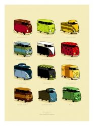 Guy Allen VW Camper signed limited edition print | Car Gifts, Motoring Gifts and Merchandise | Gearbox Gifts