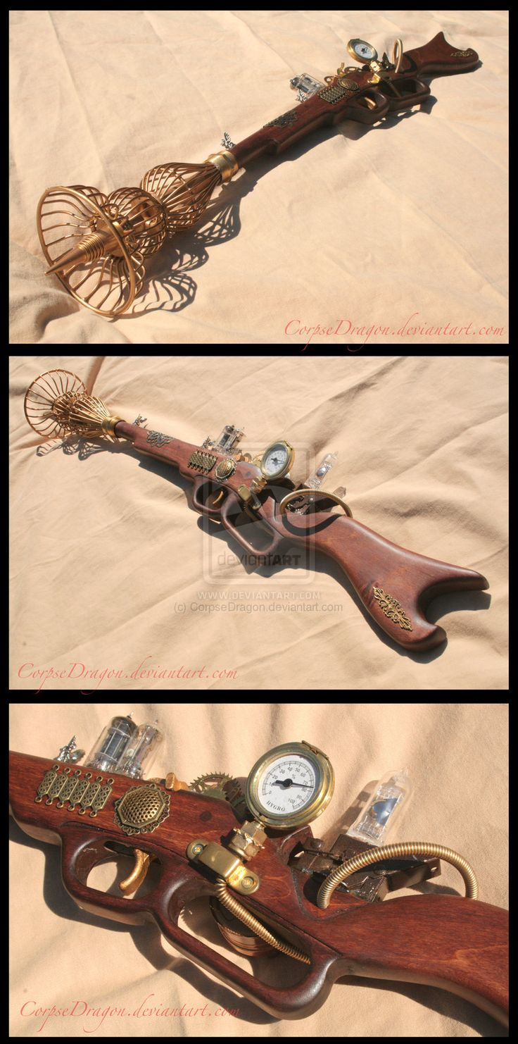 Awesome Steampunk Ray Gun 1 by *Spirit-Candy on deviantART