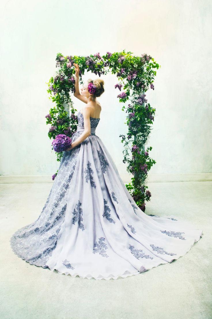 BTNV160 #NOVARESE #ノバレーゼ #colordress #lavender #lace