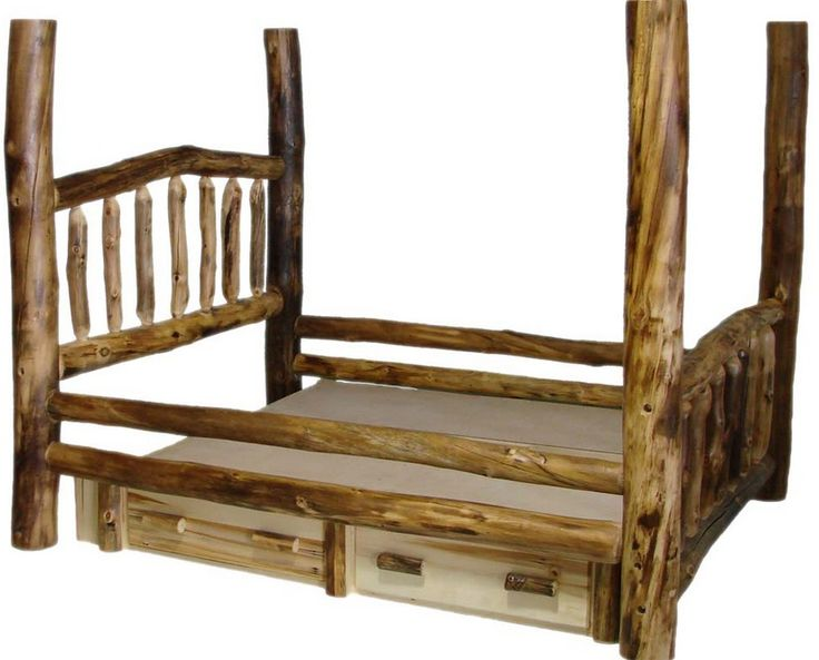 Aspen Tall Post Log Bed With Drawers. Love The Rustic Twisted Aspen Look!  Very