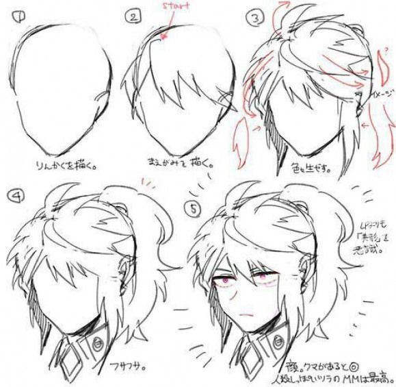 Boy Hair Tuto Long Animedrawing Anime Drawing Hairstyles Boy Hair Tuto Long Animedrawing Anime Drawing Hairstyles Manga Hair Boy Hair Drawing How To Draw Hair