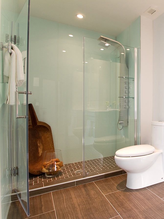 Glacier Shower Wall Surround Panels With A Thick Frameless