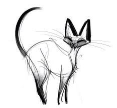 Siamese kat schets (cartoon)