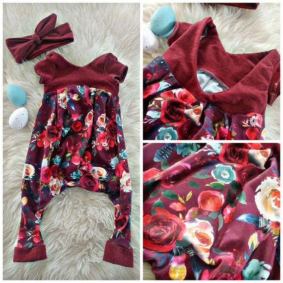 Spring /summer 2018 baby girl fashion Floral Alley cat romper for the win