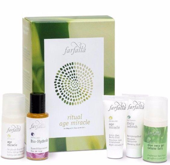 {nieuw} Farfalla Age Miracle ritual set: een prachtige cadeauset met Farfalla gezichtsverzorging +35 jaar voor een erg gunstige prijs. #natuurcosmetica #farfalla #antiageing #druantia #vegan #natrue #crueltyfee #limitededition