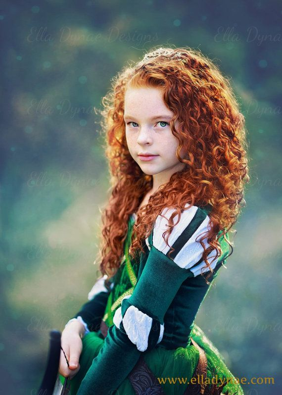 Merida Costume in Tulle  Brave Inspired Princess Gown por EllaDynae