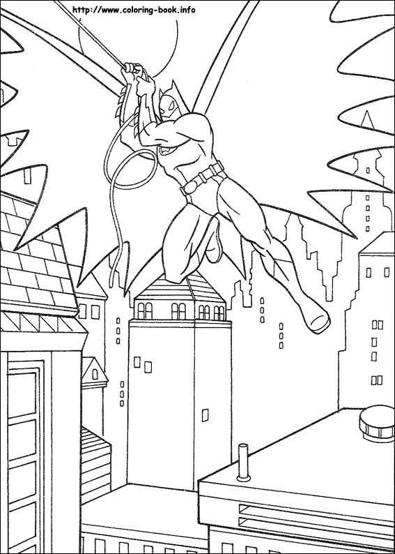 Batman Coloring Page 14 Is A From BookLet Your Children Express Their Imagination When They Color The
