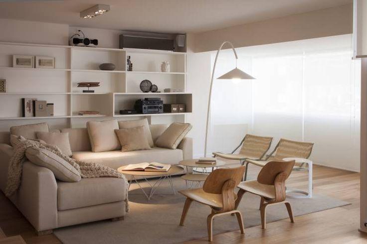 Piso en Palermo · Paula Herrero | Arquitectura: Livings de estilo moderno por Paula Herrero | Arquitectura