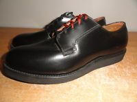 Men's NOS RED WING Postman 0101 Black Leather Union Made Vtg Oxfords Shoes 9.5D