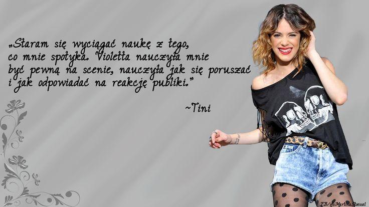 Cytat pochodzi z wywiadu Martiny Tini Stoessel dla magazynu GENTE.
