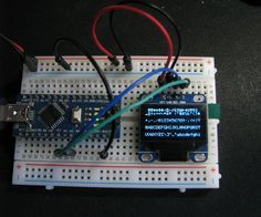 "In this instructable I will show you how to connect and test a 0.96"" i2c OLED display module to an arduino.Parts: Breadboard and hookup wires Arduino (using a nano v3 5v 16mhz clone in this case) External power supply (regulated 5v) The OLED i2c displayI bought my display around 6 months ago, and I can't seem to find the exact display on ebay now, but searching for ""0.96 ssd1306 i2c OLED"" shows a whole lot of similar displays. Other sites, like adafruit, got the same d..."