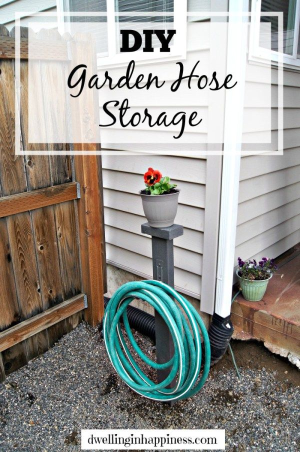 DIY Garden Hose Storage - Dwelling in Happiness