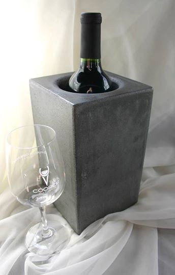 Concrete Wine Cooler | Concrete product design | Concrete | Interior | Inspiration | design | Beton design | Betonlook | www.eurocol.com