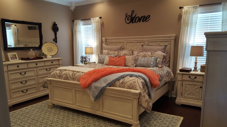 Best Coral Blue Tan Bedroom Bolanburg Ashley Furniture Pier 1 640 x 480