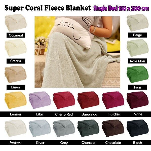Cozy up in this soft and warm blanket. This blanket showcases coral fleece construction.