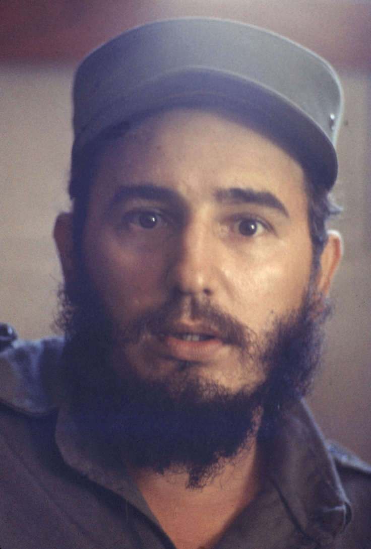Colour Photo of Fidel Castro 1960's