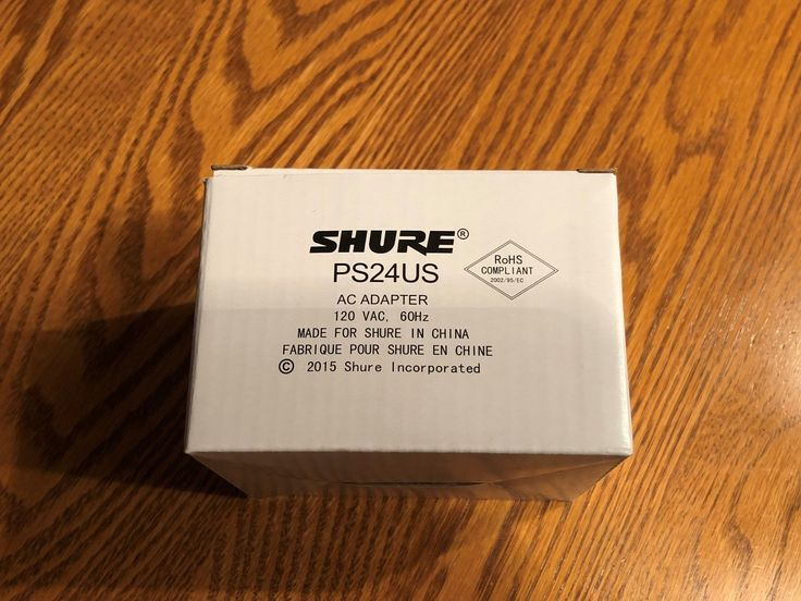 Shure PS24US Energy-efficient external switching mode 12V DC Power Supply (New)