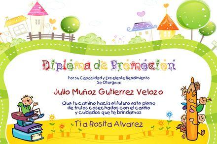 Diplomas de graduación de preescolar para editar - Imagui