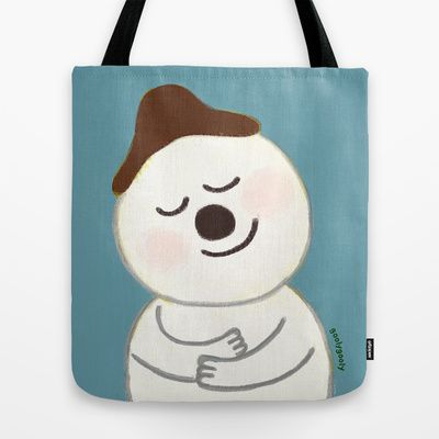 snowman Tote Bag by goolygooly - $22.00