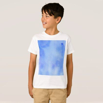 Blue Marble Watercolour T-Shirt - boy gifts gift ideas diy unique