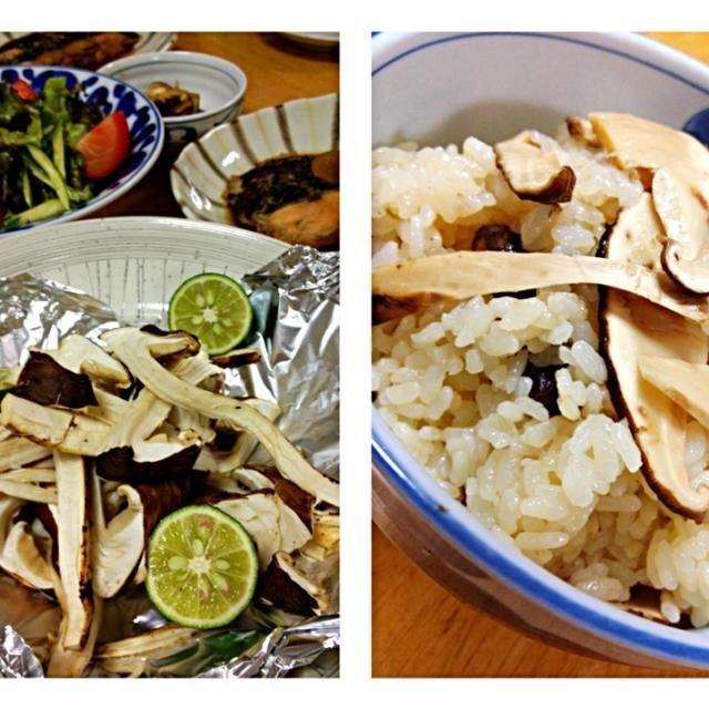 頂いた松茸を松茸ご飯、松茸のホイル焼きetc...となりました。 ホイル焼きはホイルを開けた時に松茸のいい香り。 松茸ご飯は松茸のお吸い物を足して香りプラスして(*^^*) - 41件のもぐもぐ - 秋の味覚、松茸のホイル焼き、松茸ご飯、カレイの煮付けetc. by keiyan