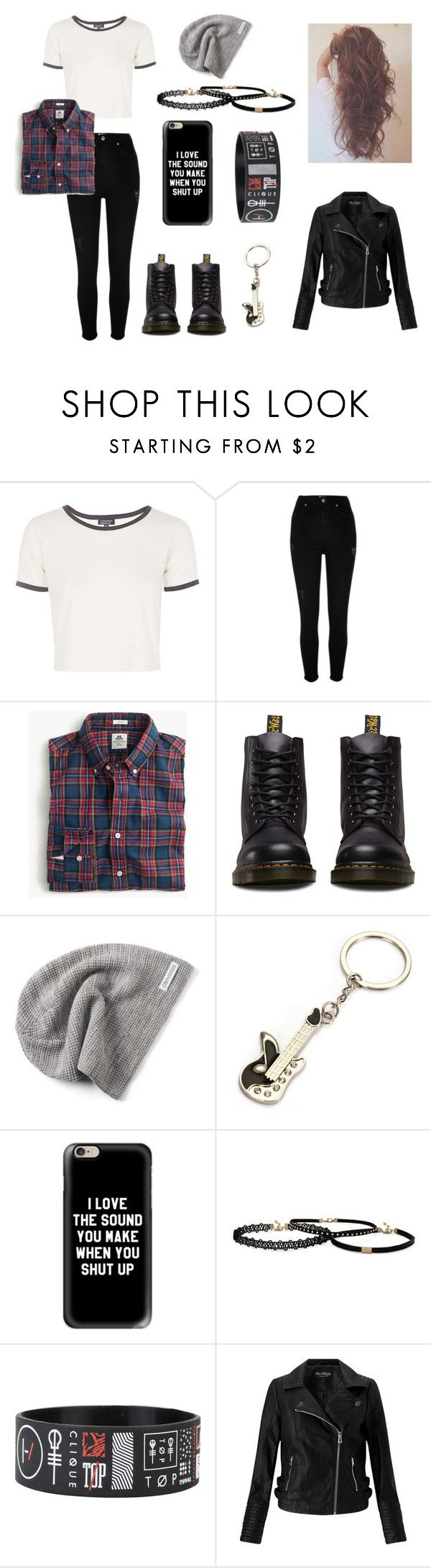 """""""Grunge/Punk Fashion"""" by coldplay-shirt on Polyvore featuring Topshop, River Island, Dr. Martens, Converse, Casetify and Miss Selfridge"""