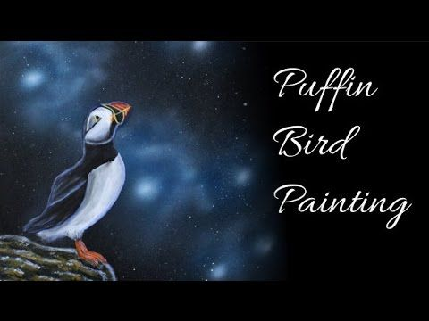 Puffin Bird - Acrylic and Airbrush Speed Painting