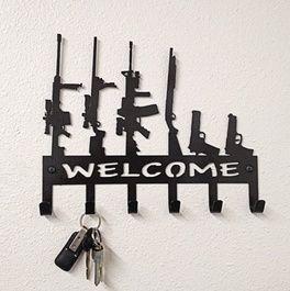 Gun Family Key Holder