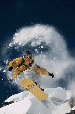 Snowboarding freestyle…