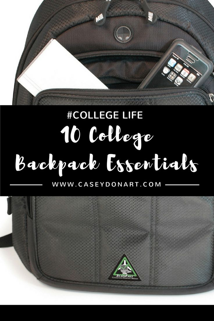 The 10 items you need to carry in your #college backpack!