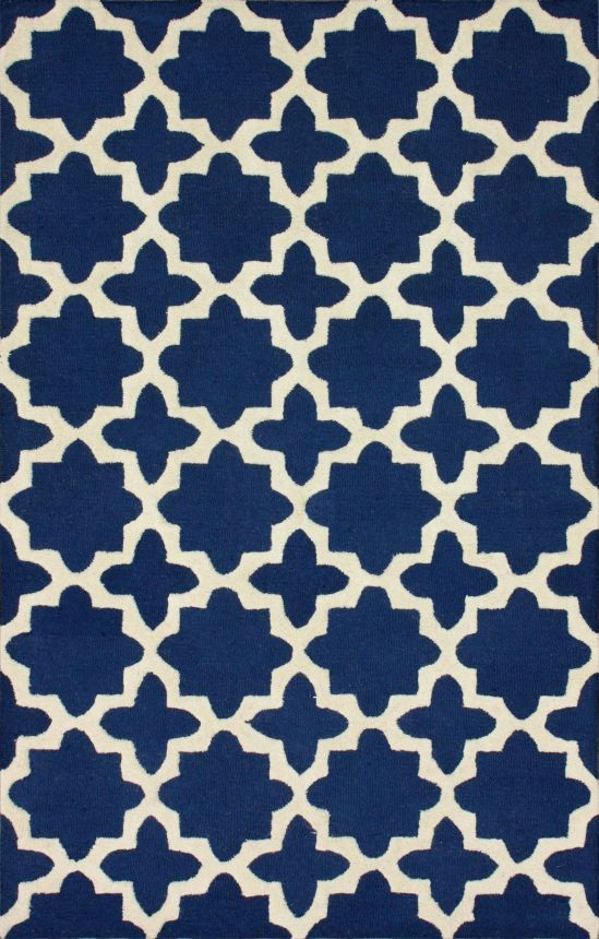 Rugs USA Tuscan Terali Moroccan Trellis Navy Rug--I love this for the living room with our yellow couch