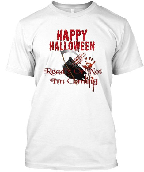 Happy Halloween! White T-Shirt Front