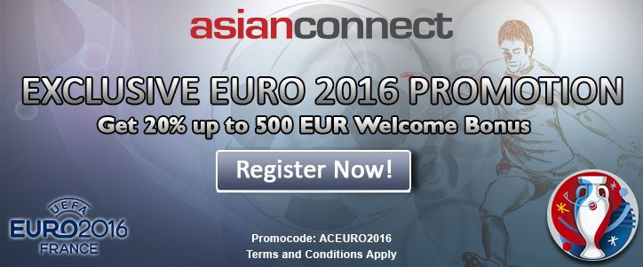Enjoy our exclusive offer in celebration of Incoming European Championship. Get 20% up to 500 EUR Welcome Bonus. JOIN NOW! http://asianconnect88.com/promotion/
