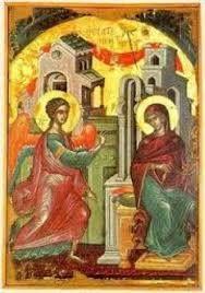 Ο Ευαγγελισμός της Θεοτόκου του Θεοφάνους του Κρητός στη Μεγίστη Λαύρα Αγίου Όρους -The Annunciation of Theophanes the Cretan at Great Lavra of Mount Athos