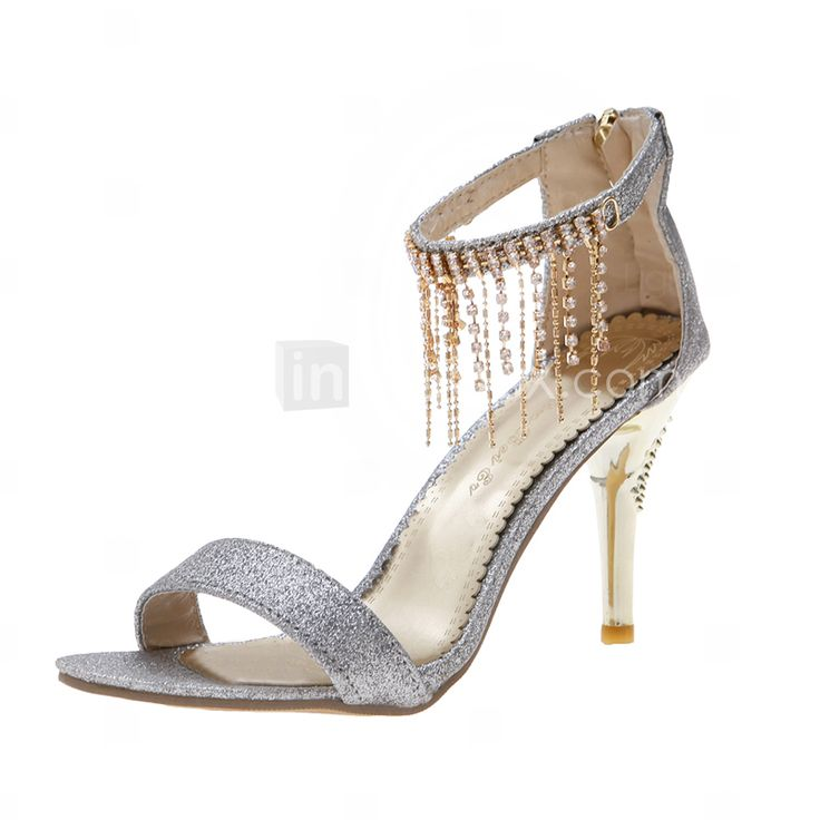 LightInTheBox Wedding Shoes: Sparkling Glitter Stiletto Heel Sandals ...