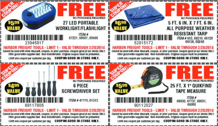 are item codes necessay Trending now: get 77% off + more at harbor freight tools with 69 coupons, promo codes, & deals from giving assistant save money with 100% top verified coupons.