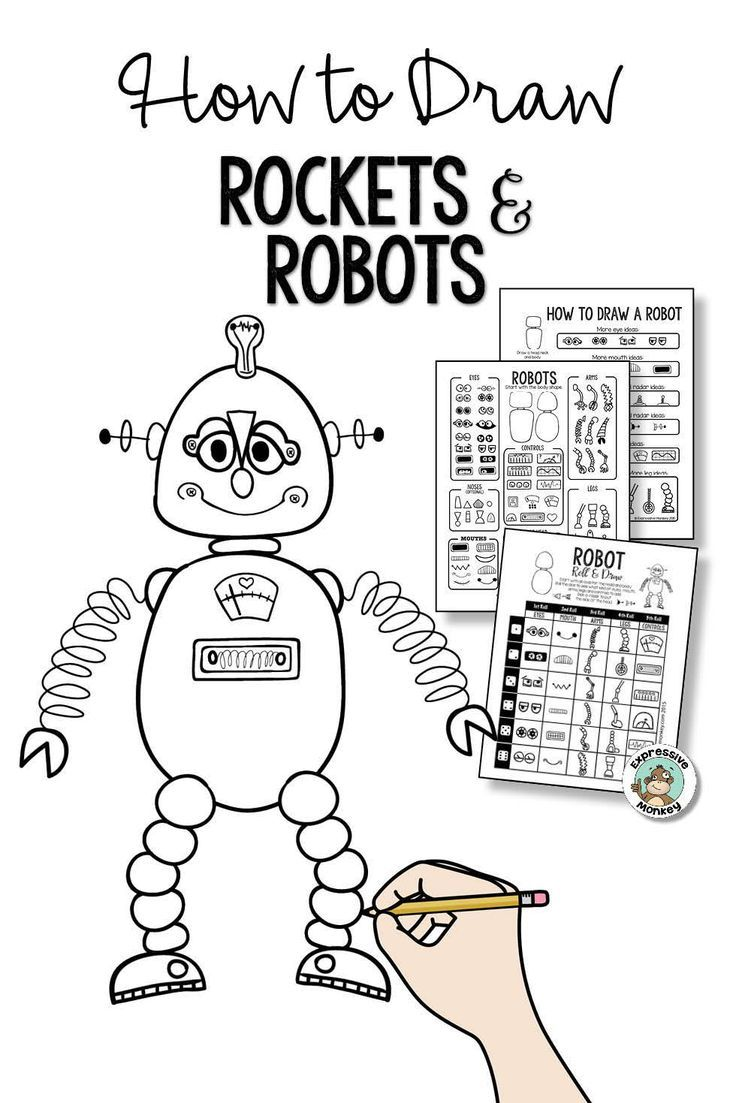 How To Draw Rockets And Robots Drawing For Kids Robots Drawing Fun Drawing Games [ 1103 x 736 Pixel ]