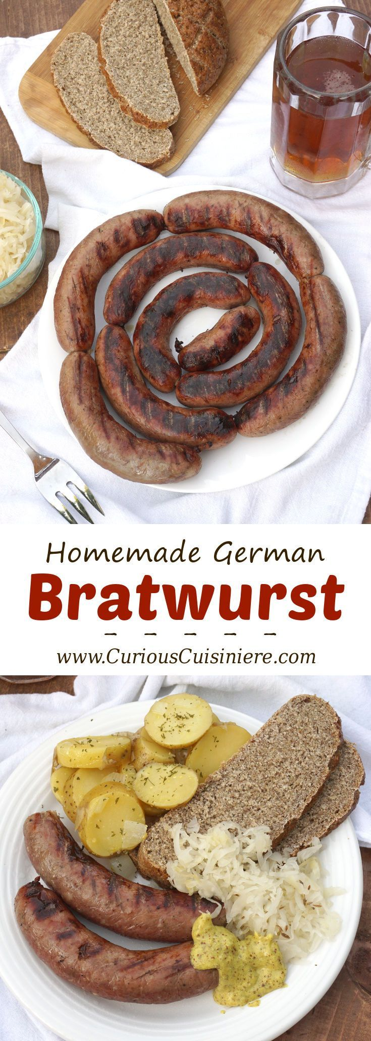 Homemade bratwurst is perfect for summer grilling and Oktoberfest celebrations! | Curious Cuisiniere