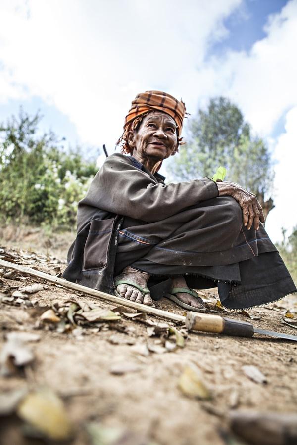 beautiful old women in burma (myanmar)