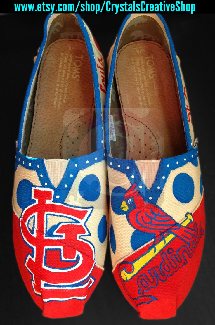 St. Louis Cardinals Baseball TOMS by CrystalsCreativeShop on Etsy https://www.etsy.com/listing/108635743/st-louis-cardinals-baseball-toms