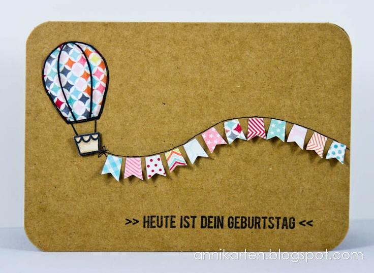 Paperpiecing + Heißluftballon + Wimpel: einfach nur klasse!