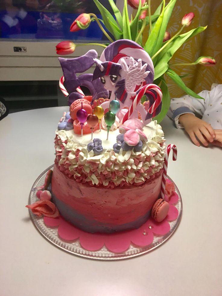 #twilightsparkle #mylittlepony #birthday #5years #buttercream #överikakku