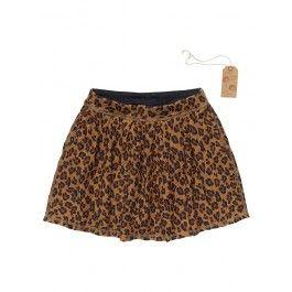 Black - Cheetah bubble skirt