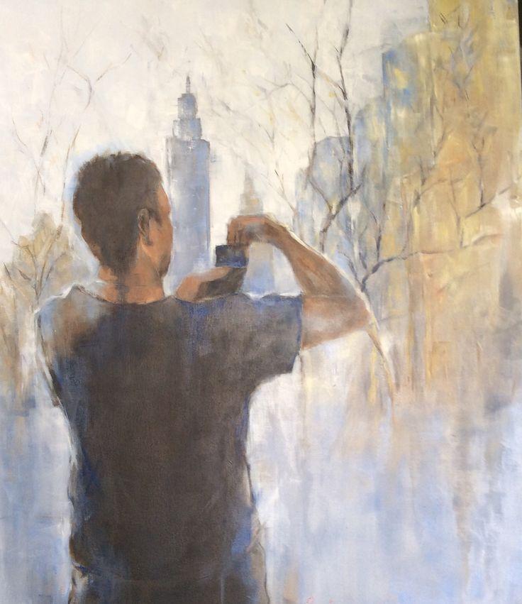 'Memories 1' oil on canvas 80x100
