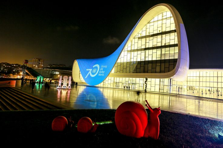 The Heydar Aliyev Centre in in Baku, Azerbaijan  Photograph: Pacific Press / Barcroft India