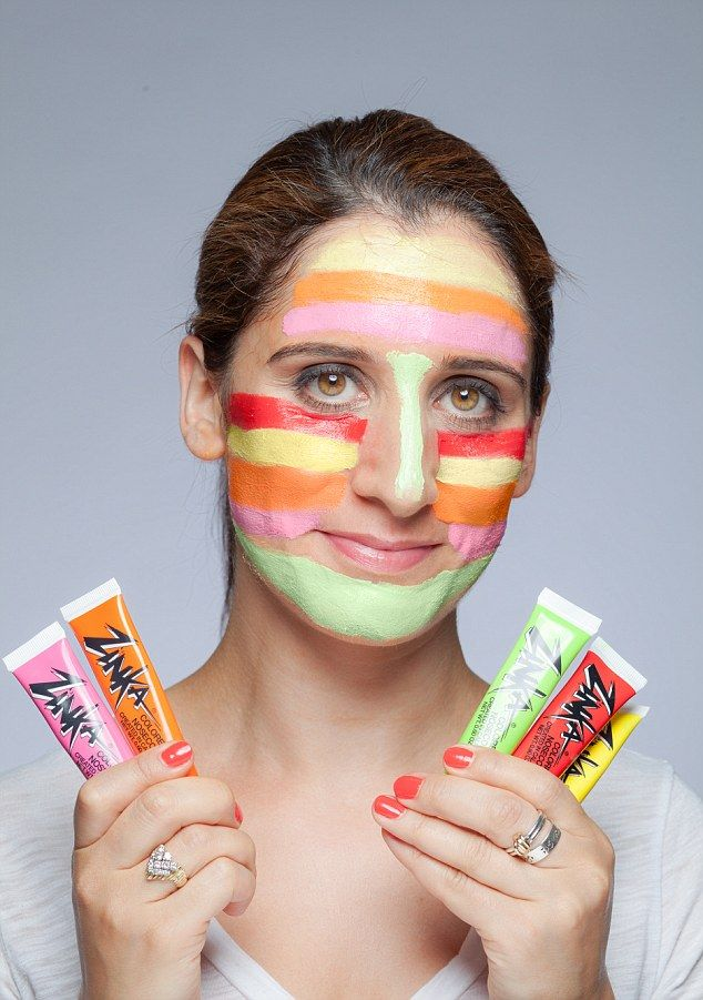 The rainbow face paint that can save you from sunburn and ageing UVA #dailymail