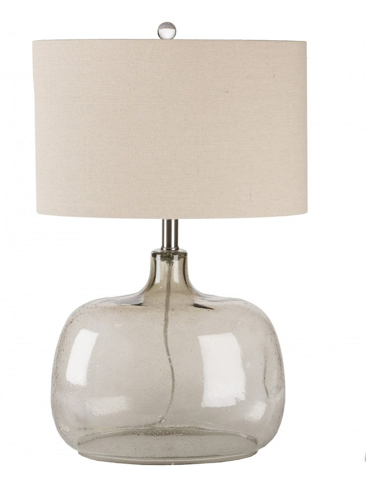 Bentley Glass Table Lamp In Smoke