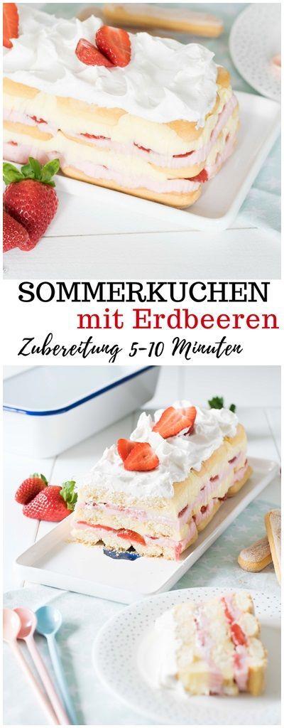 Sommerkuchen mit Erdbeeren – Zubereitung in 10 Minuten – Olga