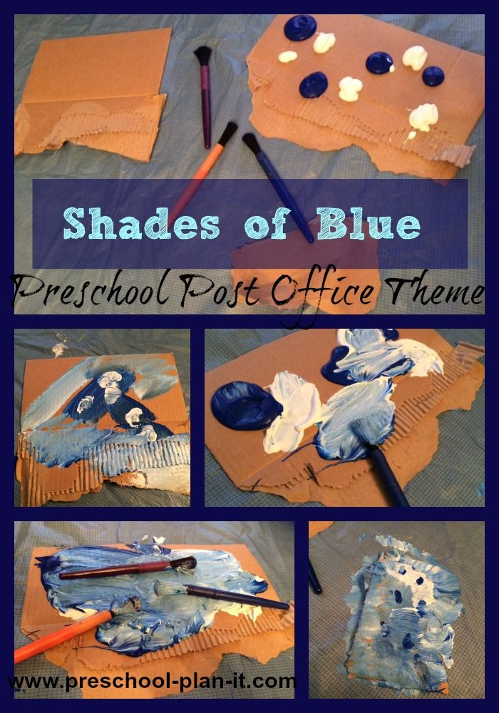 A Post Office Preschool Theme! So many activities!!! Come check out the preschool lesson plans on this page!  Shades of Blue is one of our favorites!