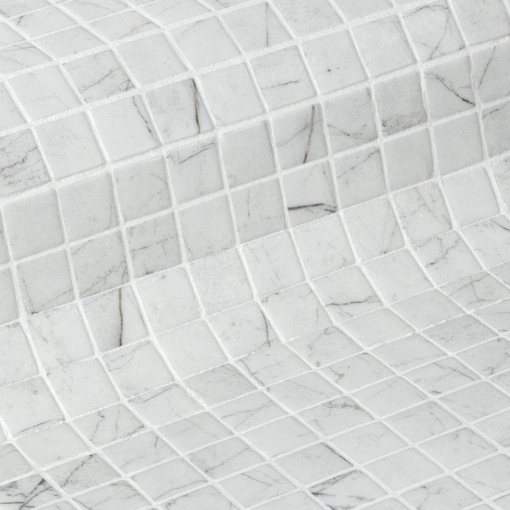Ezarri Zen Carrara 2,5*2,5 cm - Kaakelikeskus #kylpyhuone #laatta #kaakeli #sisustusinspiraatio